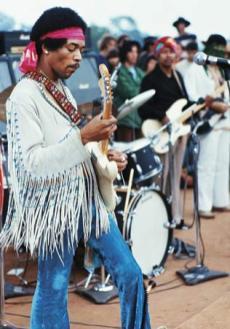 Jimi Hendrix Woodstock si celebra sa geaca cu franjuri