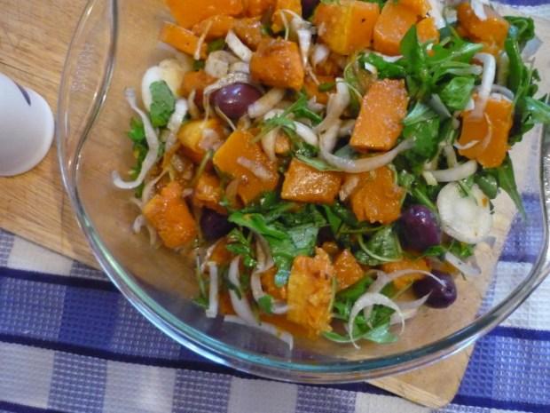 Salata de dovleac cu rucola si andive