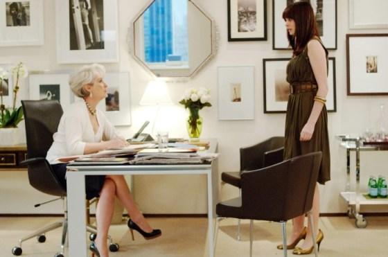 Diavolul se imbraca de la Prada si concurenta vizuala in firmele cu multe femei