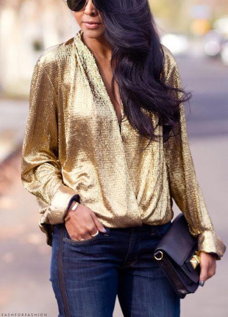 Auriu cu jeans