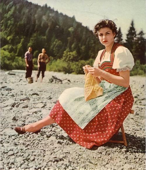 Ingrid Bergman tricota in orice moment liber