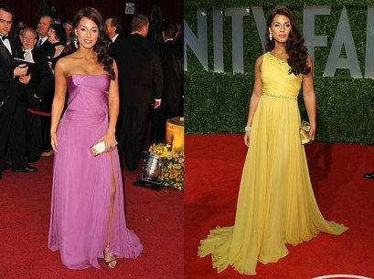 Alicia Keys are o silueta para pe care o armonizeaza cu rochii lungi fluide, in A