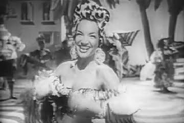 """Carmen Miranda as Chita Chula ca """"Chico Chico"""" in 1946 Doll Face."""
