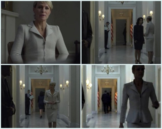 Claire Underwood si detaliile unui costum perfect