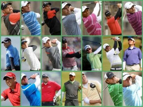 Echipamentul de golf si maneca lunga peste cea scurta