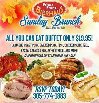 All Day Sunday Brunch at Fritz & Franz Bierhaus