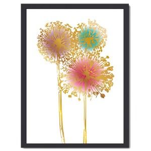Affisch Allium guld