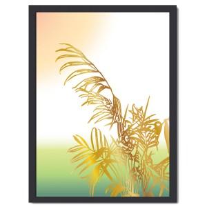Affisch palm guld