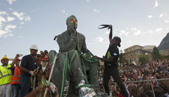 La statue de Cecil Rhodes