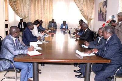 La réunion au cours de laquelle le circuit provisoire a été adopté @ Presse ministère des Sports
