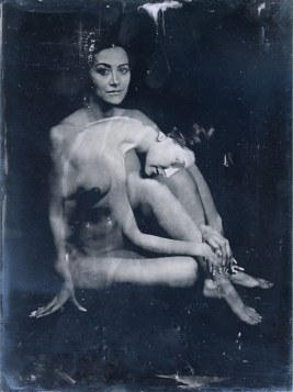 Zoé (18x24cm ambrotypes on clear glass)