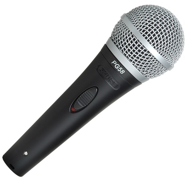 Shure Pg58-xlr Cardioid Dynamic Vocal Microphone With Xlr-xlr Cable