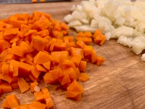 Boiled potatoes and carrots