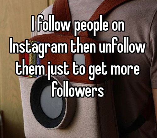 The follow / unfollow technique