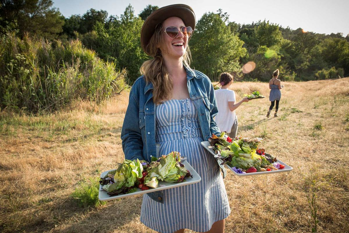 Outstanding in the Field farm to table dinner in Sonoma for Imbibe magazine.