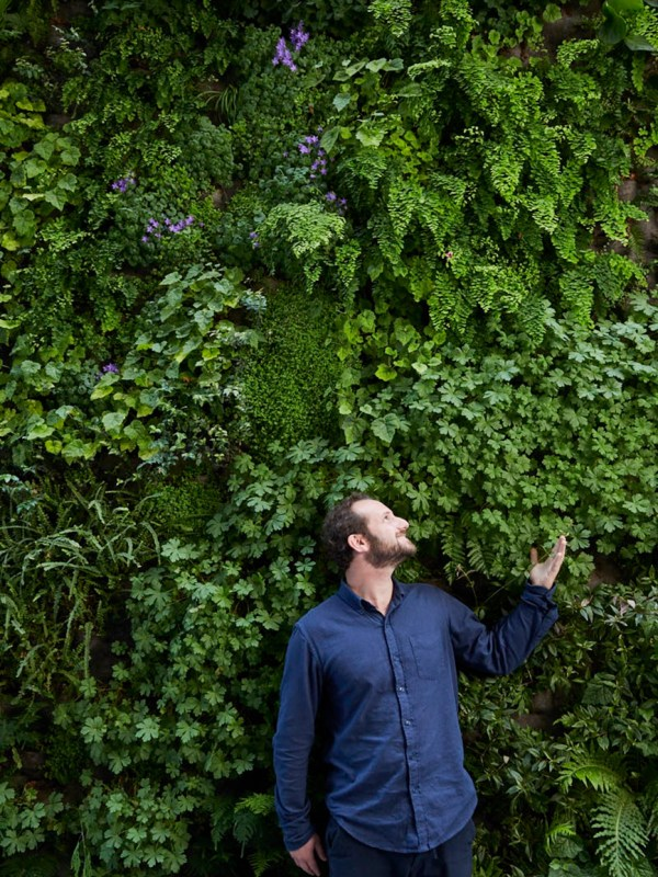 David Brenner creator of the Living Wall at SFMOMA for Sunset magazine.