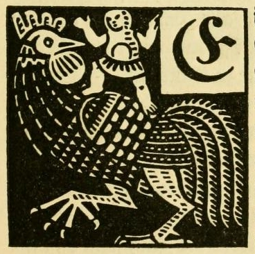 Illustrated initials from a German fairytale book (1919 edition)