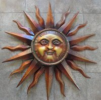 Gorgeous Metal Sun Plaques and Sun Faces for Your Wall!