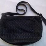 Black Bottega Veneta Intrecciato Shoulder Bag