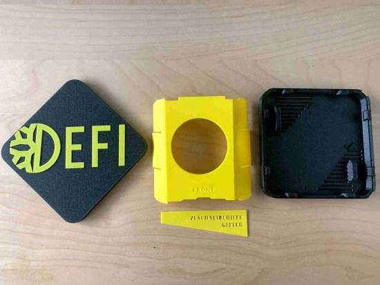 DeFiNode - yellow/black 3D printed Parts
