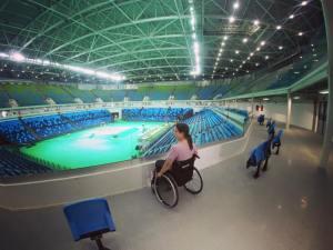 Arena do Parque Olímpico - locais para pessoas em cadeira de rodas