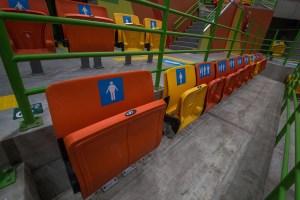 Arena do Parque Olímpico - Assentos especiais para pessoas com mobilidade reduzida