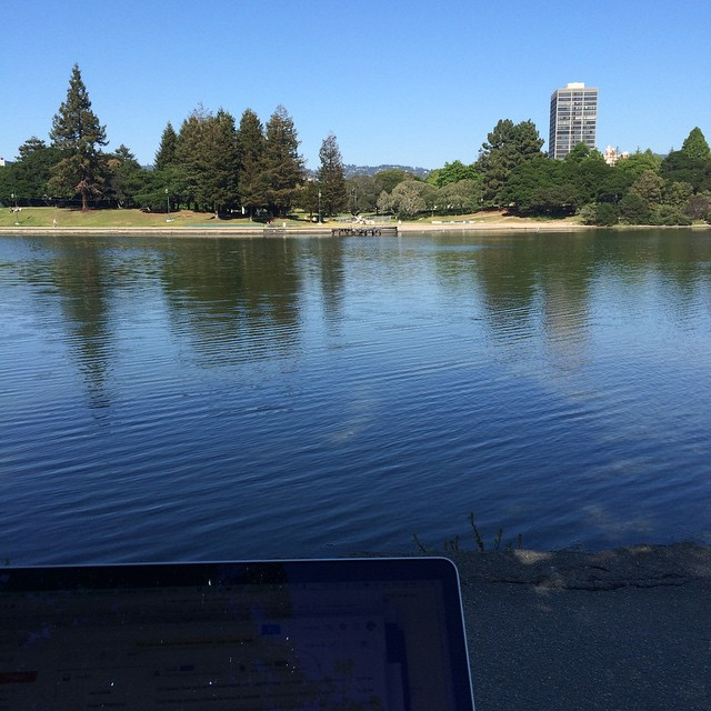 Afternoon office by the lake hanging out w/ Caleb @oakmedium