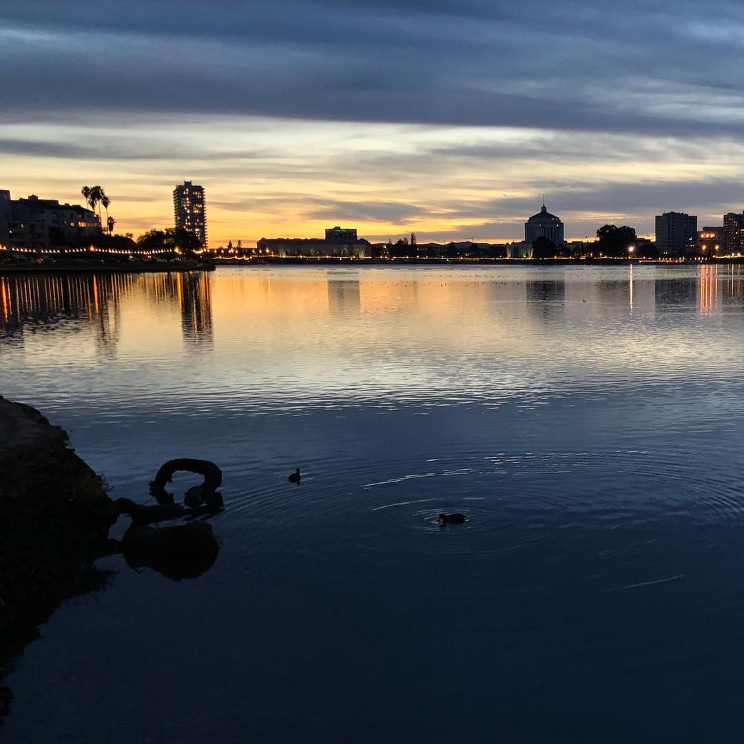Beautiful night for a walk around the lake