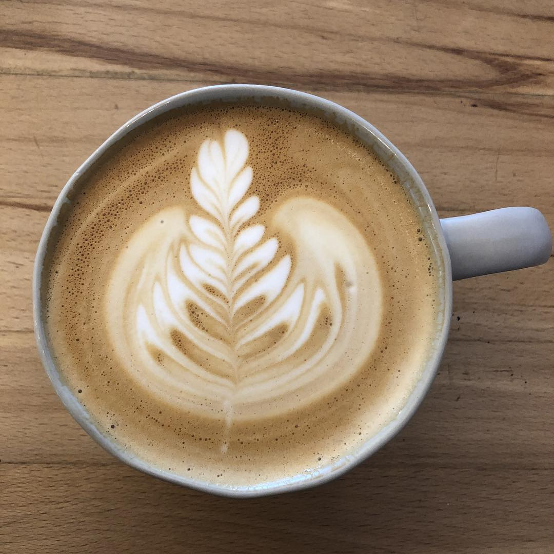 Delicious latte at Kaleidoscope