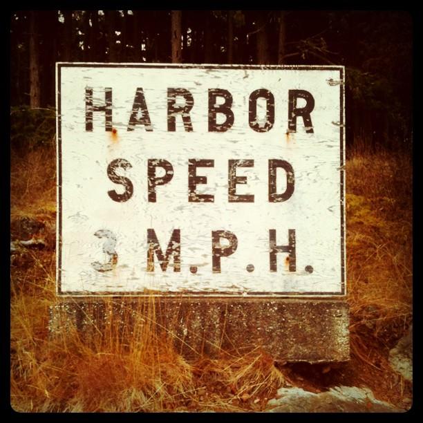 Harbor speed 3 M.P.H.