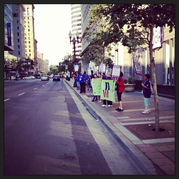 Hella striking in Oakland today