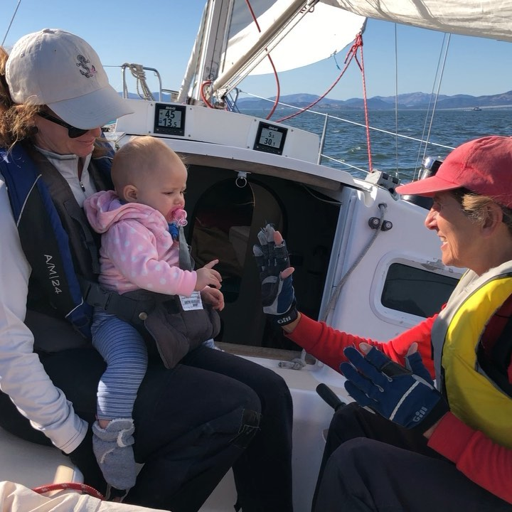 Isabella and Grammalisa playing patty cake on the boat. Pretty adorns :)