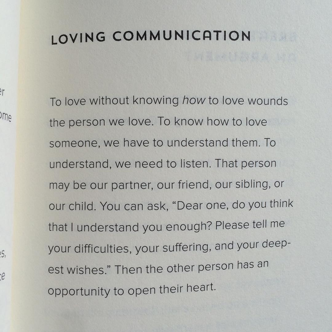 Loving communication