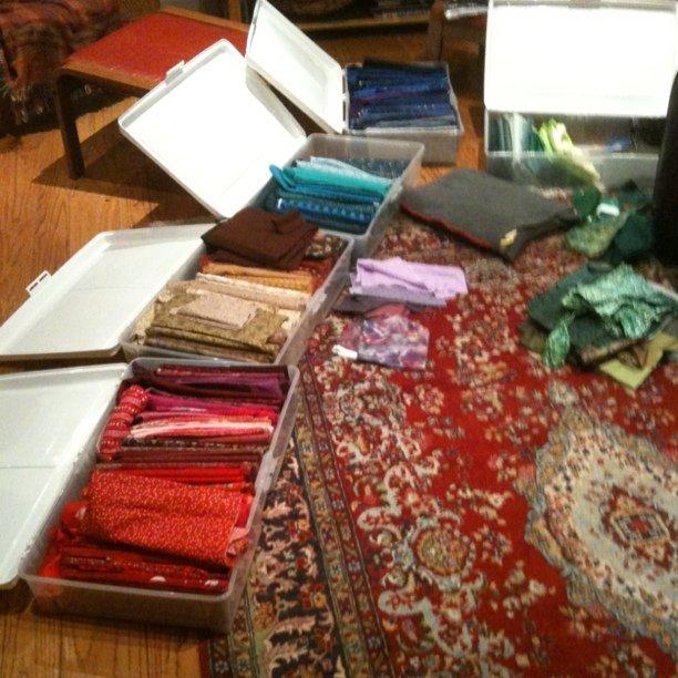 More fabric organizing