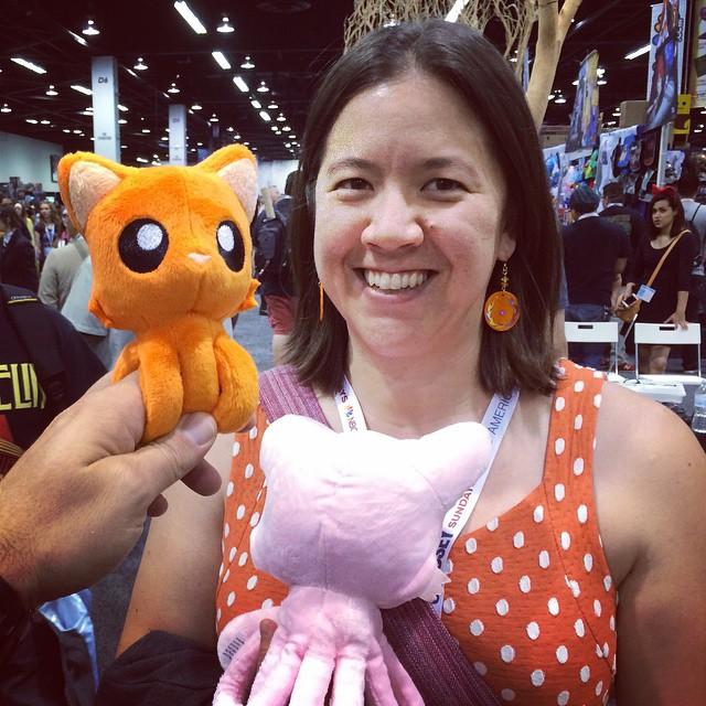 Such cute tentacle kitties at WonderCon!