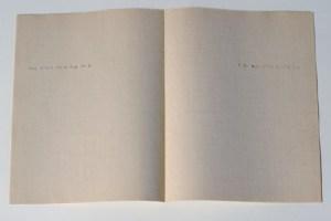 Gabriel Truan A ce qui n'en finit pas maquina de escribir sobre papel 2006