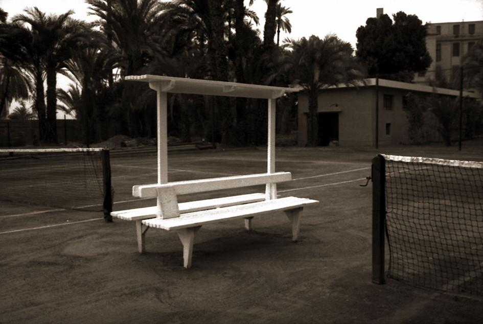 Gabriel Truan el viaje de un 30x20 cm cancha de tenis Egipto 1992