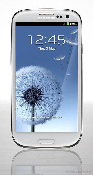 Samsung Galaxy S3 alb fata