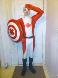 Costum Captain Canada de Halloween