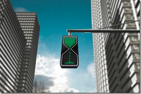 Concept semafoare clepsidra