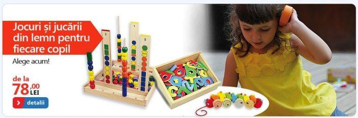 Jocuri si jucarii din lemn copii