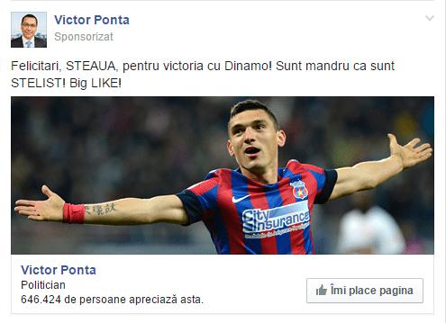 Ponta victorie Steaua