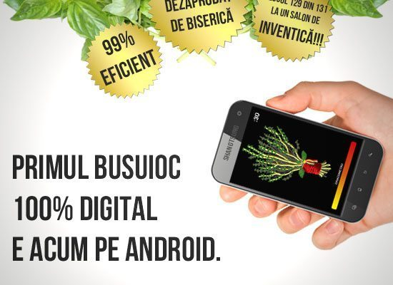 "Aplicatia ""Busuioc Automat 3000"" disponibila pe Android"