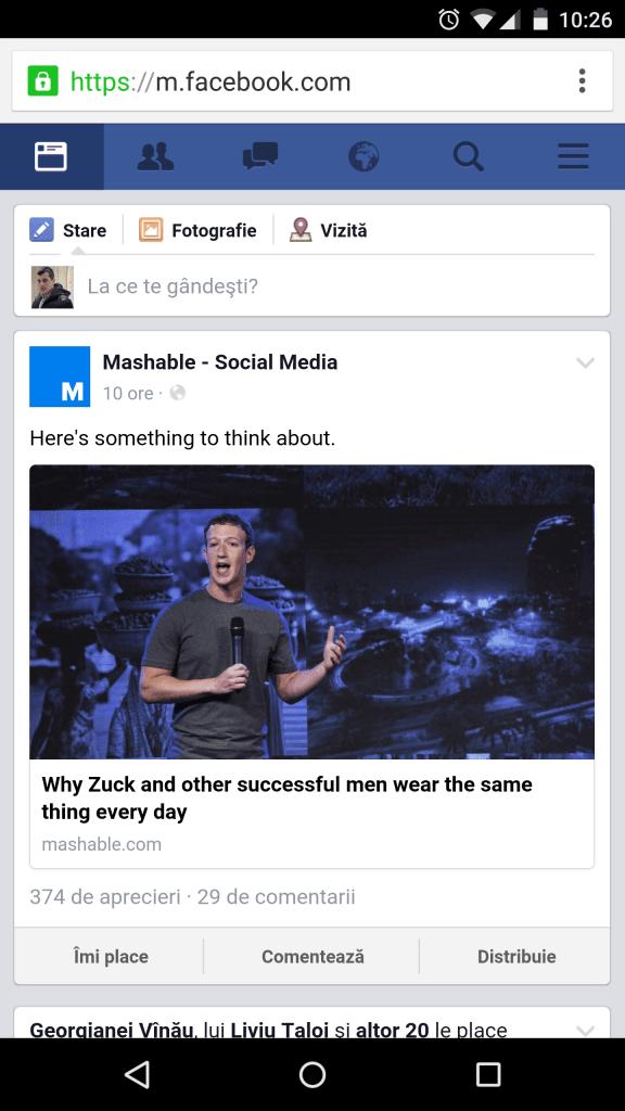 Facebook Mobile version