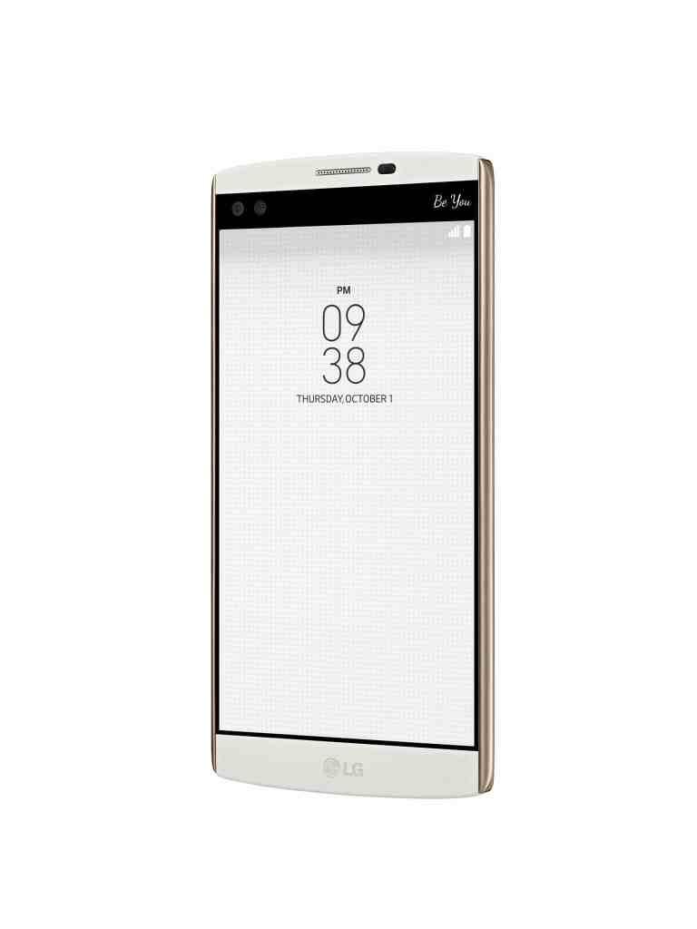 LG V10 alb lateral dreapta