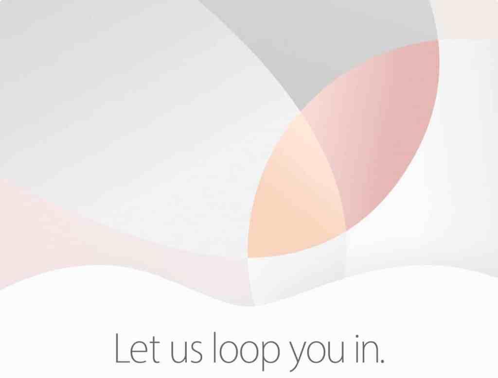 Apple 21 martie Let us loop you in