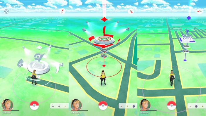 Cum arata un Gym in Pokemon Go