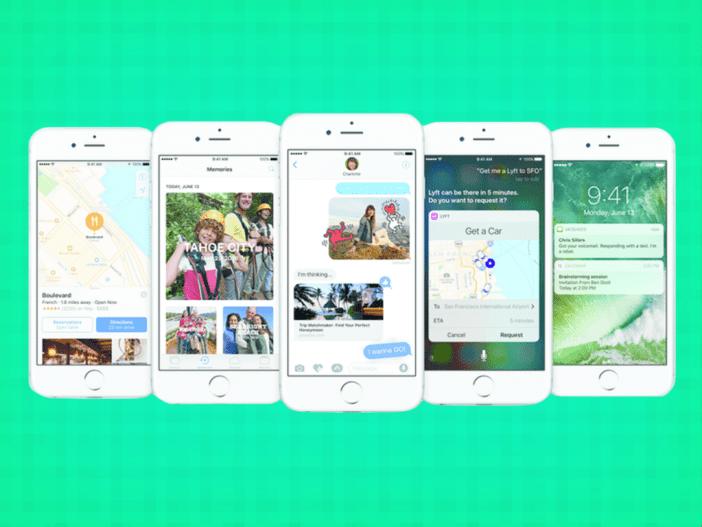 iOS 10 macOS Sierra tvOS si watchOS 3