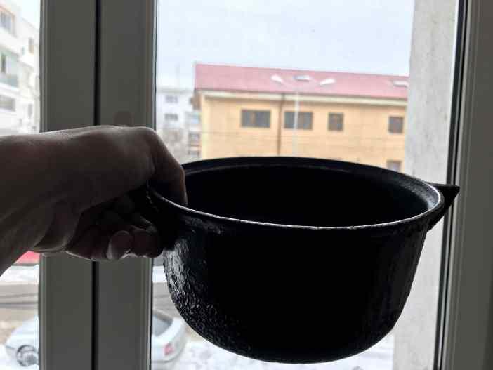 Ăsta e ceaunul pentru mămăligă