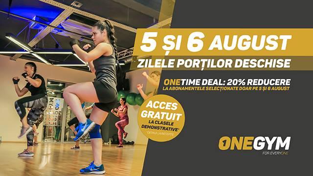 În wekendul 5-6 August ai Zilele Porților Deschise la OneGym Galați